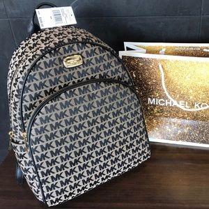 $348 Michael Kors Large Backpack MK ABBEY Handbag